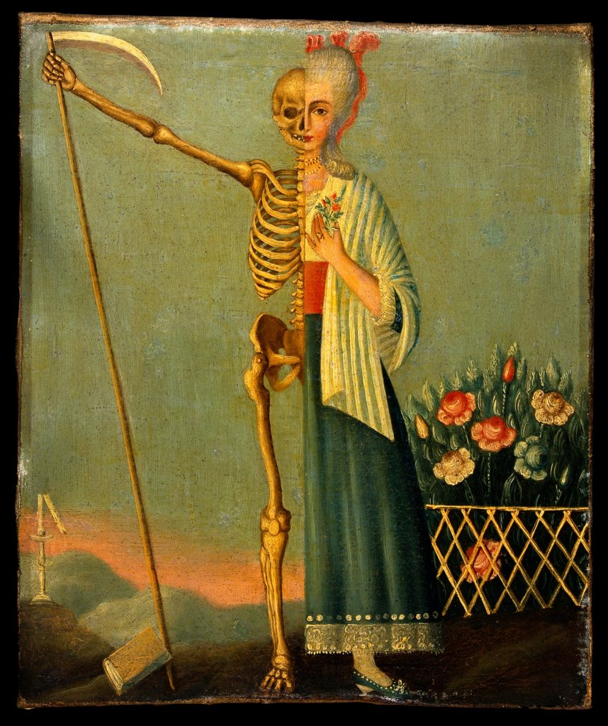 V0017612 Life and death. Oil painting. Credit: Wellcome Library, London. Wellcome Images images@wellcome.ac.uk http://wellcomeimages.org Life and death. Oil painting. Oil Published: - Copyrighted work available under Creative Commons Attribution only licence CC BY 4.0 http://creativecommons.org/licenses/by/4.0/